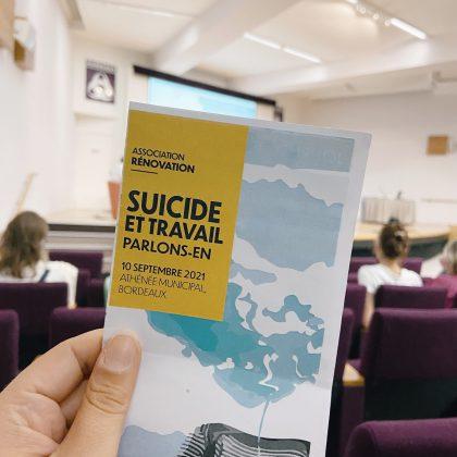 RETOUR SUR LE COLLOQUE SUICIDE AU TRAVAIL : PARLONS-EN !