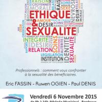 Conférence Ethique et sexualité 6 Novembre 2015