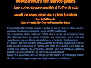 Conférence de printemps 24 mars 2016 Médiateurs de santé-pairs